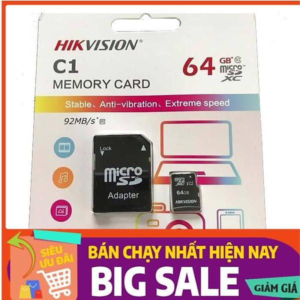 Thẻ nhớ 64GB HikvisionHS-TF-C1 – Sản phẩm chính hãng HIKVISION
