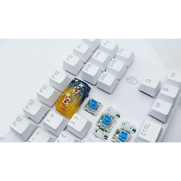 Keycap cá koi backspace 2u tone vàng đen trang trí bàn phím cơ
