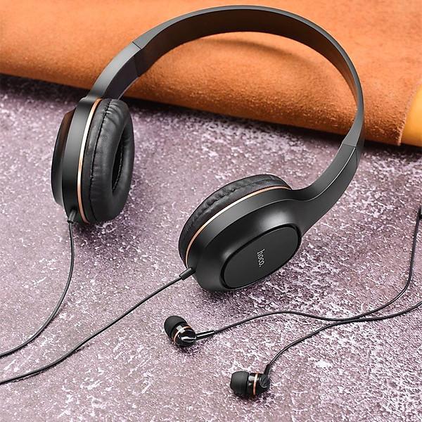 Tai nghe chụp tai Hoco W24 có dây kèm tai 3.5 – Hàng chính hãng