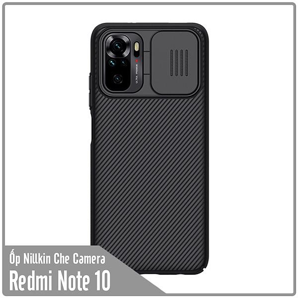 Ốp lưng cho Xiaomi Redmi Note 10 Nillkin CamShield che camera – Hàng Nhập Khẩu