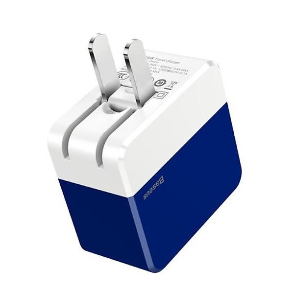 Cốc sạc nhanh cao cấp 2 cổng USB – Mini Square Dual-U Chager ( 3.4A Max) Baseus – Hàng Chính Hãng