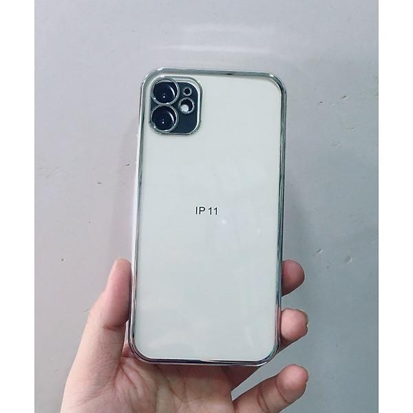 Ốp lưng trong suốt viền màu cạnh vuông giả iphone 12 dành cho iPhone 11, 11 Pro Max chính hãng KST