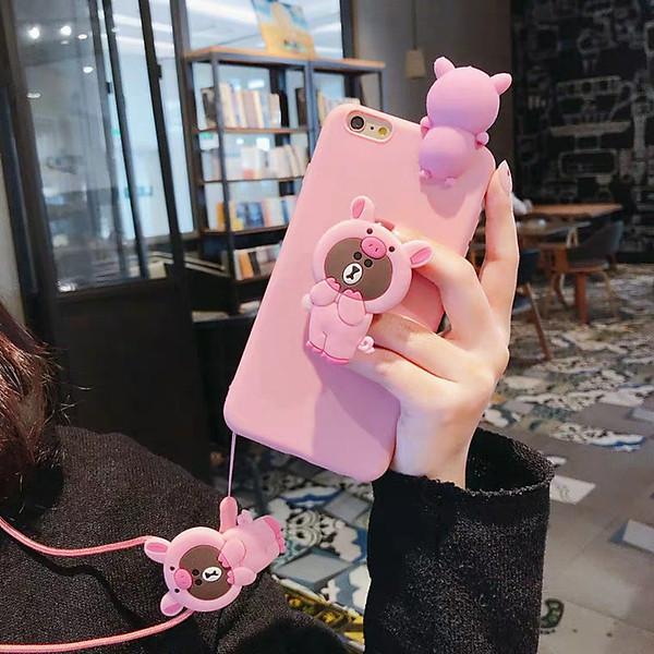 Ốp lưng dẻo hình thú leo kèm giá đỡ và dây đeo Dành cho iphone 5,5s,6,6s,6 plus,6s plus,6s plus,7,8,7 plus,8 plus,X,XS,XR,XS Max