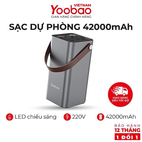 Pin sạc dự phòng 42000mAh Yoobao EN1 Sạc nhanh PD3.0 & QC3.0 220V – Hàng chính hãng