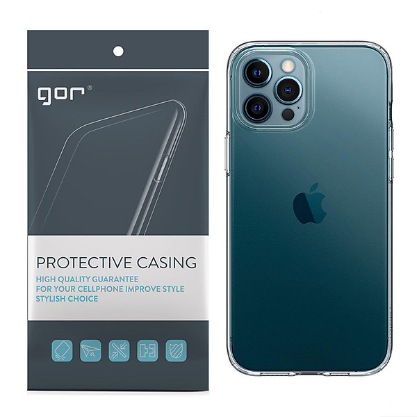 Ốp Lưng Silicon TPU trong suốt GOR cho iPhone 12 Mini / 12 / 12 Pro / 12 Pro Max – Hàng Nhập Khẩu