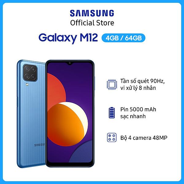 Điện Thoại Samsung Galaxy M12 (4GB/64GB) –  Hàng Chính Hãng