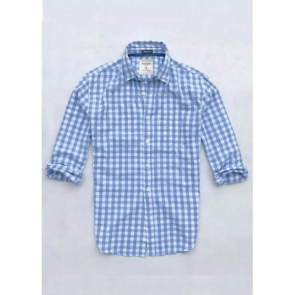 Áo sơ mi caro nam tay dài kẻ sọc vải Oxford cao cấp trắng phù hợp công sở Nexx & Dee 02