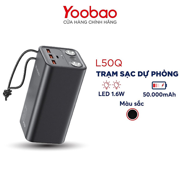 Trạm sạc dự phòng Yoobao L50Q 50000mAh – Hàng Chính Hãng
