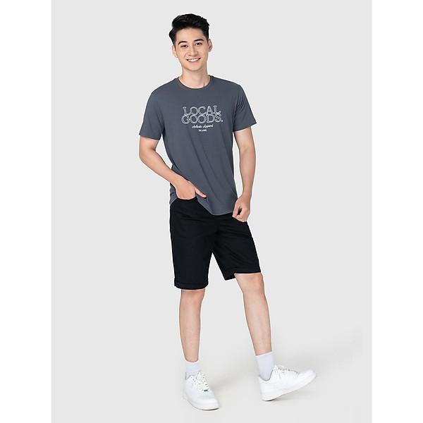 Áo phông nam cotton USA in chữ thời trang CANIFA – 8TS21S006