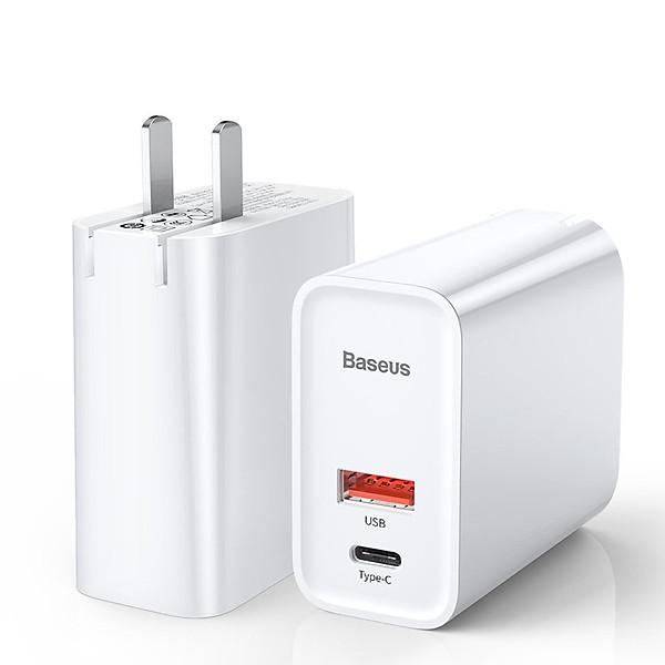 Adapter Sạc 2 Cổng 30W Baseus Tích Hợp Cổng USB Type-C Hỗ Trợ Sạc Nhanh QC 3.0 Và Power Delivery PD 3.0 – Hàng Chính Hãng