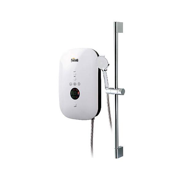 Bình nước nóng trực tiếp Ferroli Slim Divo SDN4.500W hiển thị nhiệt độ – Hàng chính hãng