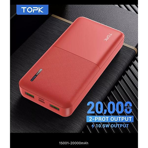Sạc Dự Phòng TOPK I2009/I2009Q 20000MAh Sạc Nhanh PD QC3.0 Cho iPhone HUAWEi Samsung – Hàng nhập khẩu