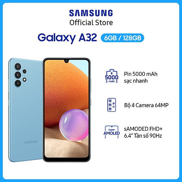 Điện thoại Samsung Galaxy A32  (6GB/128GB)- Hàng Chính Hãng