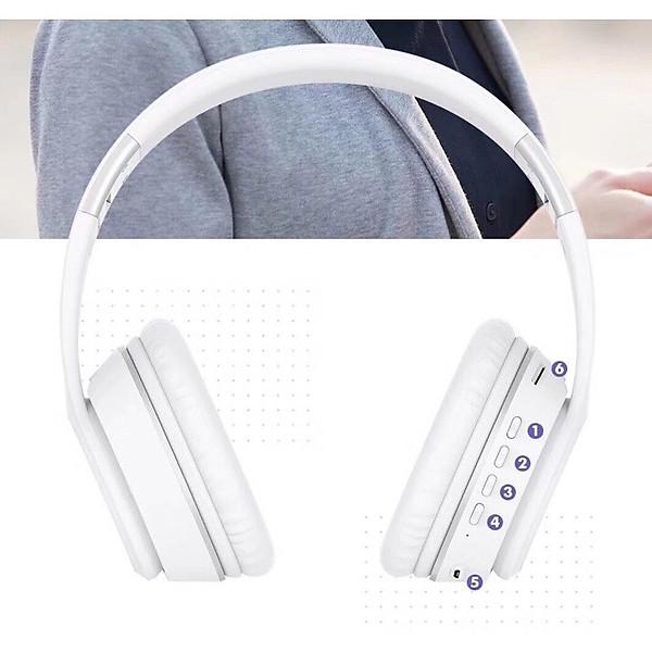 Tai nghe chụp tai Bluetooth v5.0 SENDEM K33 âm thanh năng động hỗ trợ thẻ nhớ – HÀNG CHÍNH HÃNG