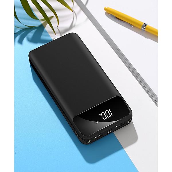 Sạc Dự Phòng Hỗ Trợ Sạc Nhanh BA-908 Có 2 Cổng USB Dung Lượng Pin Lớn