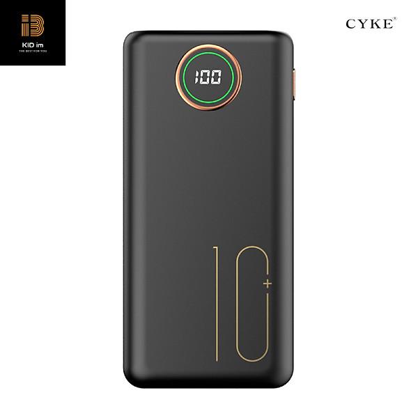Pin sạc dự phòng CYKE 10000mAh 2.1A sạc nhanh điện thoại 2 cổng đầu ra USB và 3 cổng đầu vào (lightning/Type c/Micro usb)