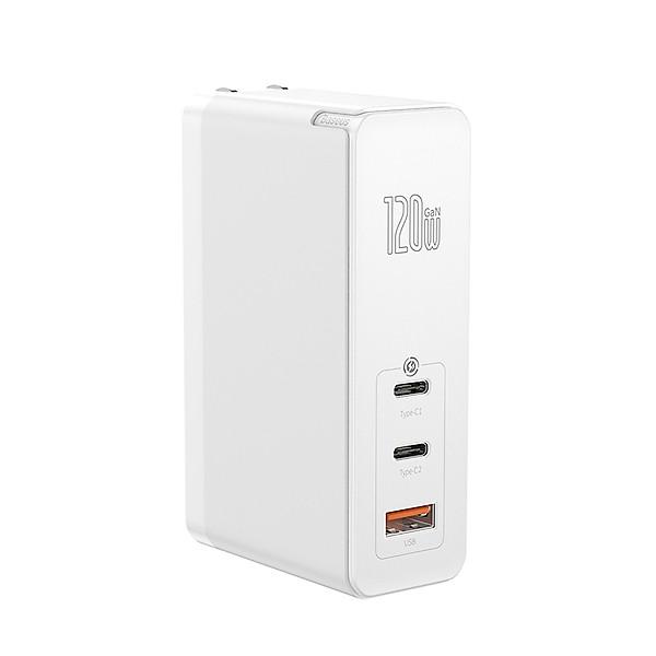 Adapter củ cóc sạc nhanh 120W đa năng 1 cổng sạc USB và 2 PD 3.0 Type-C hiệu Baseus MiniGaN Gen 2 Pro công nghệ tản nhiệt BCT- Hàng nhập khẩu