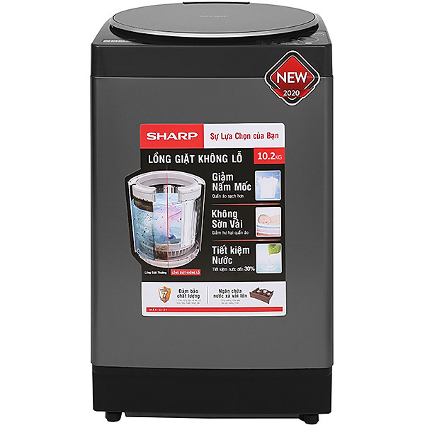Máy Giặt Cửa Trên Sharp ES-W102PV-H (10.2kg)