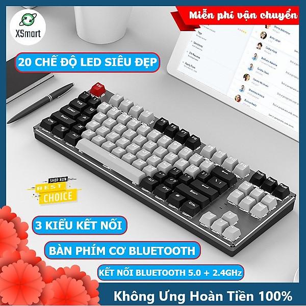 Bàn phím CƠ Bluetooth Không Dây Pin Sạc XSmart K950 LED đẹp hàng chính hãng