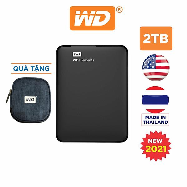 Ổ Cứng Di Động WD Elements Portable 2TB 2.5 USB 3.0 – WDBU6Y0020BBK-WESN – Hàng Chính Hãng