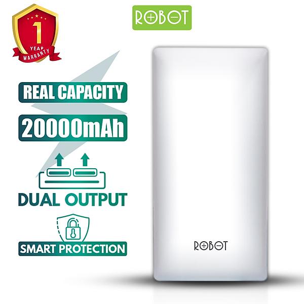 Pin Sạc Dự Phòng ROBOT RT20 20000mAh 2 cổng Input & 2 Output – Hàng Chính Hãng