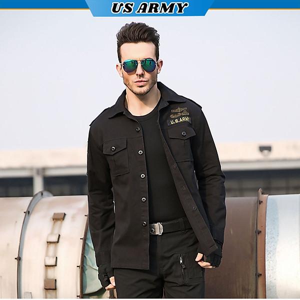 Áo Sơ Mi Dài Tay Lính Mỹ U458 US ARMY, Chất Liệu Vải Kaki Cao Cấp Thiết Kế Túi Hộp Phong Cách Loại Xịn- HÀNG CHÍNH HÃNG