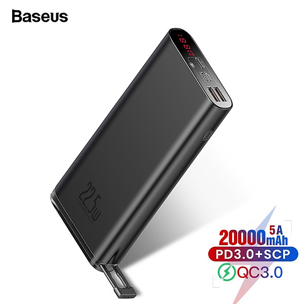 Pin dự phòng sạc nhanh Baseus Starlight Digital Display 20000mAh (22.5W, PD/ Quick Charge Dualway Power Bank) – Hàng chính hãng