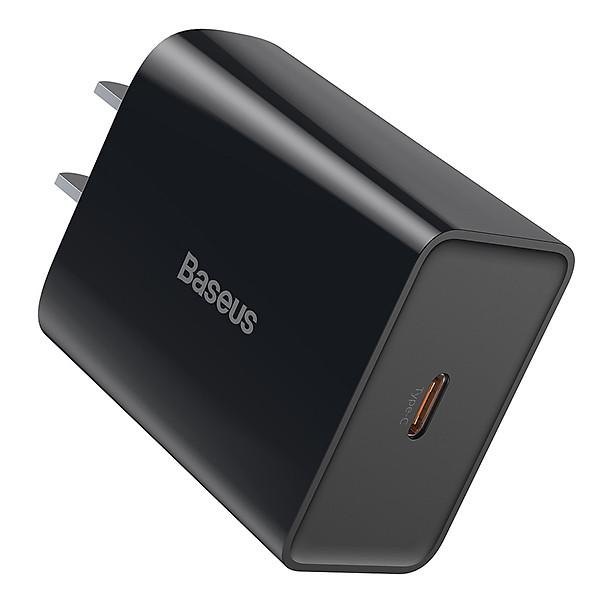 Củ sạc nhanh PD 18W USB Type C Baseus Speed Mini QC Single Type C Quick Charger – Hàng chính hãng