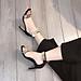 Giày  Sandal ĐỒNG HỒ Da Lộn Gót Dẹt Khoá Sau Siêu Tây Kèm Tất/Vớ Da Chân