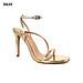 Giày Sandal Gót Nhọn Quai Mỏng Chéo 10 phân Sulily SG2-IV20BACMIX màu vàng phối