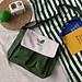 Túi đeo chéo thêu hình hoa quả chất vải thô