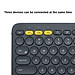 Logitech K380 Wireless BT Keyboard Multi-device Pairing Compatible with macOS Computers iPads iPhones - Grey-4