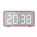 Loa Bluetooth Mặt Gương Kiêm Đồng Hồ Báo Thức BT506 V5.0 - Có Khe Cắm Thẻ Nhớ - Đỏ-0
