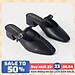 Giày cao gót Erosska thời trang mũi vuông phối dây quai mảnh kiểu dáng thanh lịch cao 4cm EL017