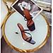 Giày cao gót trong 3 quai sang trọng