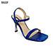 Giày Sandal Gót Nhọn Da Rắn Sulily SG1-IV20NAVY màu navy