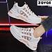 Giày thể thao nữ cổ thấp màu trắng êm nhẹ thương hiệu ZAVAS đế cao 4cm S389 - Hàng chính hãng