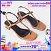 Giày sandal cao gót Erosska thời trang mũi vuông phối dây quai mảnh tinh tế cao 1cm EB029