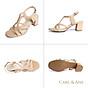 Gia y sandal phô i dây thời trang Erosska mu i vuông gót cao 5cm CS002 3