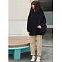 Áo Sweater Nam Nữ Nỉ Bông Trắng (Đen) Trơn Thời Trang Cao Cấp 2