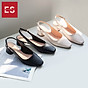 Giày nư , gia y cao gót slingback Erosska mũi vuông kiểu dáng basic gót vuông vững chắc cao 5cm - EL013 8