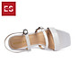 Gia y sandal cao gót Erosska thơ i trang mũi vuông phô i dây quai ma nh cao 3cm EB018 4