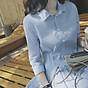 Đầm đũi nữ cổ bẻ sơ mi Đũi Việt DVDA132 2