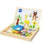 Bảng ghép nam châm hai mặt đồ chơi gỗ thông minh cho bé thumbnail