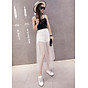 Chân váy maxi jean quần phối ren trắng - CV022 8