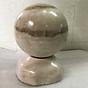 Quả cầu phong thủy đá tự nhiên màu vàng nhạt 15 cm cho mệnh Thủy và Kim đá Việt Nam thumbnail
