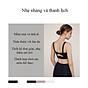 Áo Bra thể thao nữ, áo tập Gym Yoga mềm mịn, có đệm, kiểu áo lót mỏng mã WX-042 2