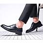 Giày da giày da nam cao cấp độn đế giày tăng chiều cao mã 36800-G đế cao 6cm 6