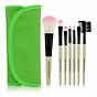 Bộ cọ trang điểm 7 món Wooden Makeup Kit (Xanh lá) 3