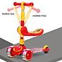 Xe trượt scooter 3 bánh cao cấp dành cho bé, phát nhạc, bánh xe phát sáng vĩnh cửu, rèn luyện vận động, tăng chiều cao cho bé, chịu lực lên tới 90kg 2